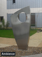 stainless steel, copper garden sculpture